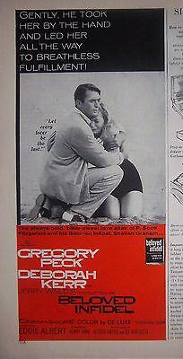 1959 Gregory Peck Deborah Kerr Beloved Infidel Color Movie Ad