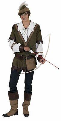 Robin Hood Kostüm Herren 6tlg Mittelalter Lederoptik Gr.56/58 - Robin Hood Herren Kostüm