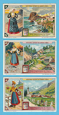 LIEBIG - SET OF 6 CARDS -  S 1131  /  F 1130  -  AREAS  OF  ITALY   -  1921