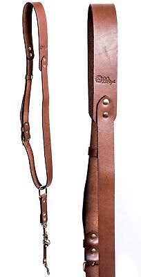 Camera Neck Strap Shoulder Sling Quick Release Leather Adjustable SLR/DSLR Brown