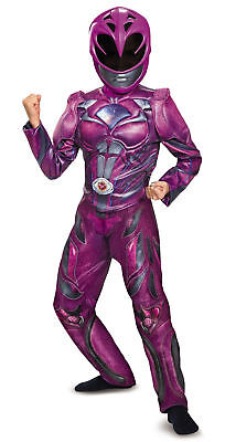 Power Ranger PINK RANGER Girls Halloween Costume 3-D Detail Child Large 10-12 - Power Girl Halloween Costume