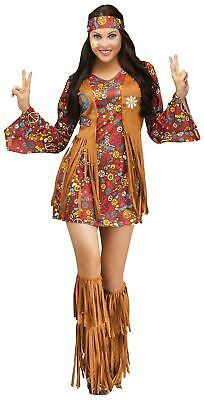 The Groovy 60's Adult Women Hippie Costume Peace & Love Flower Power - Powerful Women Costumes