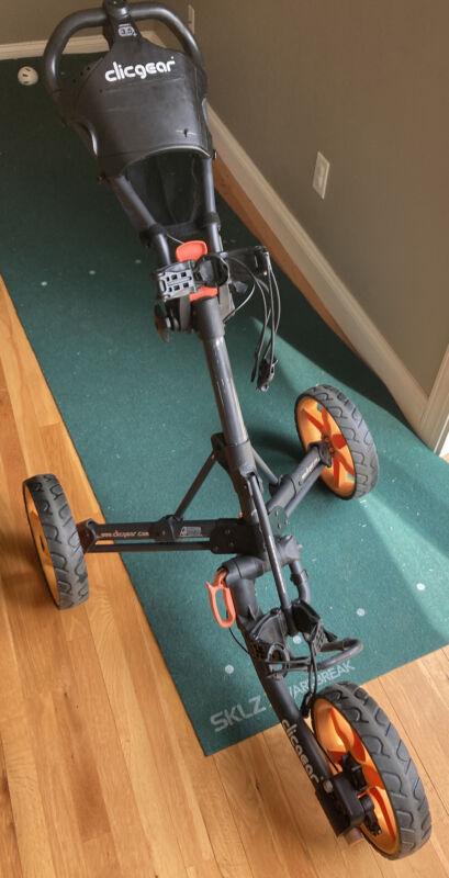 clicgear 3.5+ push cart BLK/ORN
