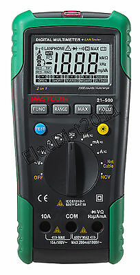 Mastech Ms823521-500 Autoranging Acdc Digital Multimeter W Network Tester