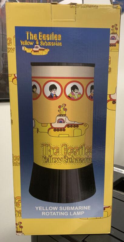 New NIB Rabbit Tanaka The Beatles Yellow Submarine Rotating Lamp 2006 Light VTG