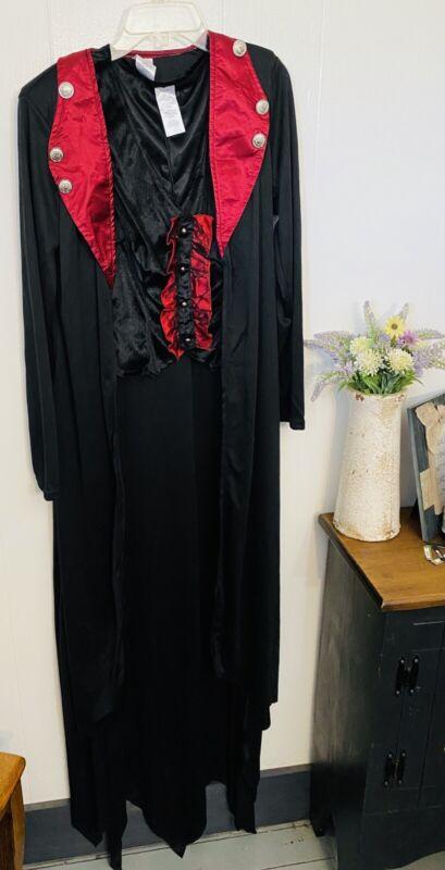 Womans Victorian Witch S Costume 3 Pieces Cape, Top, Choker Velvet NWOT