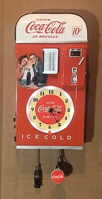 Coca-Cola Time For Refreshment Vending Machine Wall Clock by Bradford Exchange