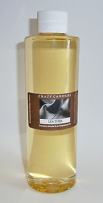 Leather 8oz Premium Grade Scented Fragrance Oil Crazy Candles