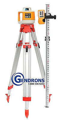 Topcon Rl-h3d Taurus Self-leveling Rotary Laser Level Tripod Grade Rod