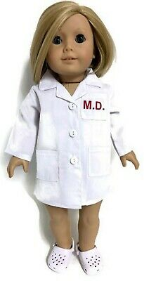 White Doctor's Coat Jacket for 18 inch American Girl Doll Clothes - White Doctor's Coat