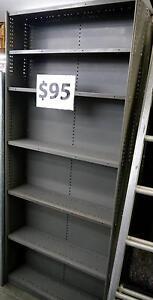Metal Industrial Grey Bookcase Bookshelf Library Shelving 6 Shelf Melbourne CBD Melbourne City Preview