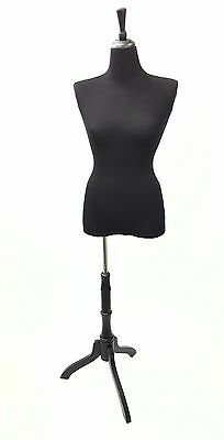 Black Stretchy Half Body Mannequin Cover To Renew Female Mannequin Torso - 1 Pc