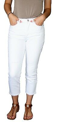 Denim & Co. White Jeans Cropped, Ankle and Classic Models