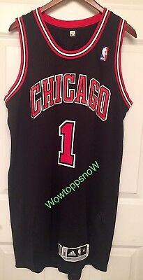 Autographed Auto Derrick Rose Game Worn Used Home Black Chicago Bulls Jersey  COA 089f92cde