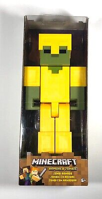 Minecraft Armored Zombie Large Scale Action Figure 8.5 Inches New