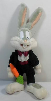 WARNER Bros VTG LOONEY TUNES 14'' BUGS BUNNY IN TUXEDO CARROT PLUSH STUFFED DOLL - Bunny Tuxedo