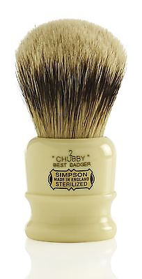 Simpsons Chubby Best Badger Shaving Brush - (Simpson Chubby 2 Best Badger)