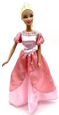 "Barbie Doll Blonde Hair Blue Eyes Pretty Pink Princess Dress Shoes Mattel 11.5"" Barbie Blue Princess Doll"