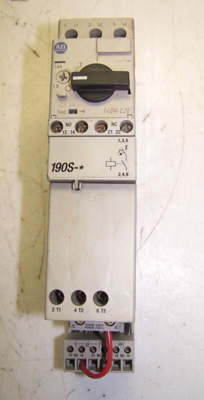 ALLEN BRADLEY 140M-C2E-B16 MOTOR STARTER 1.6 AMP 100-C09*10 25A 190S-AND2-CB16C
