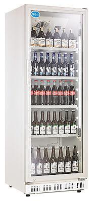 Flaschenkühlschrank mit Glastür 360 Liter Getränke Kühlschrank Gewerbe Gastro