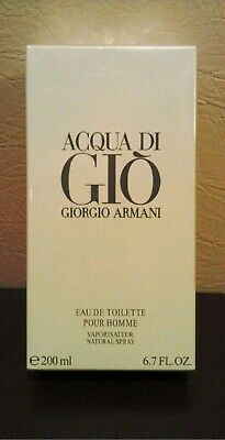 Acqua Di Gio 6.7 oz 200 ml Giorgio Armani EDT Homme Men Eau de Toilette Sealed
