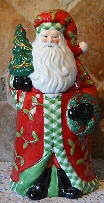 """VINTAGE SANTA CLAUS COOKIE JAR~ST NICK COOKIE JAR~13"""" CHRISTMAS COOKIE JAR~EUC!"""