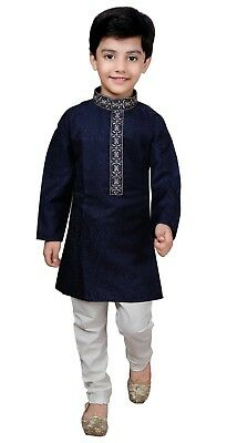 Boys Asian Wedding Sherwani Kurta Churidar Pajama Kids Bollywood Outfit  932
