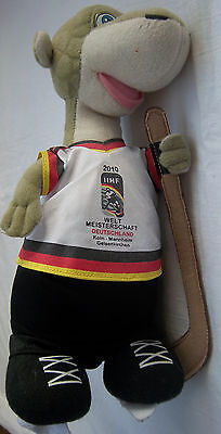Orig.Maskottchen  Eishockey Weltmeisterschaft DEUTSCHLAND 2010 / 30 cm ! RARITÄT
