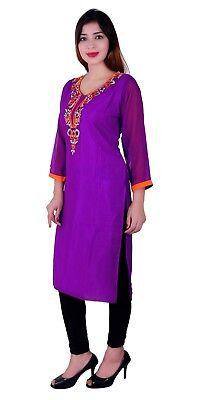 Desi Sarees Damen Tunika Bollywood Party Formelle Kleidung Kurti Kostüm Top - Business Kleidung Kostüm