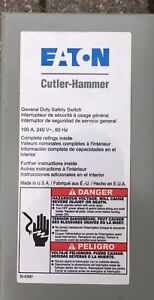 Eaton  Cutler-Hammer 100A safety switch