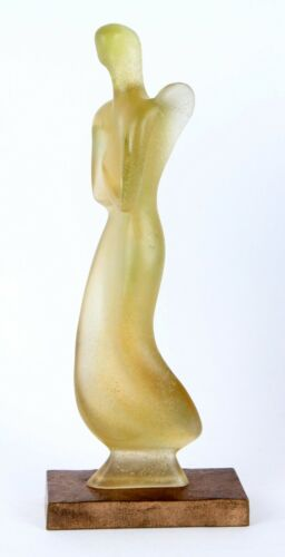 Daum Pate De Verre Glass Angel Sculpture 200/375