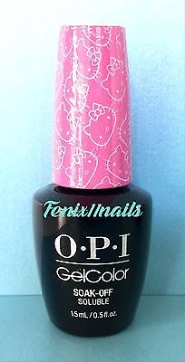 OPI GelColor HELLO KITTY GC H87 SUPER CUTE IN PINK magenta pink gel color polish