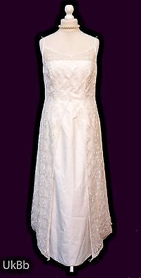 Vintage Wedding Dress Complicite La Fete Lace Size 14 - 16 Boho HALLOWEEN R652