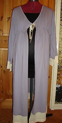 BNWT MATERNITY Lilac/Cream 3/4 Sleeved Robe/Dressing Gown L - 14-16