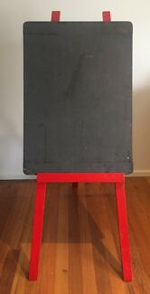 Shabby Vintage Chic Chalk Board Painted Red Wedding Event