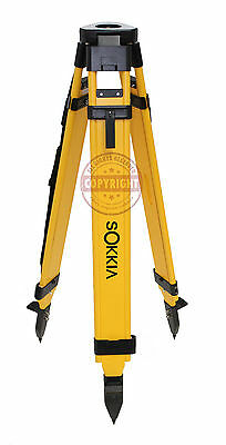 SOKKIA HEAVY-DUTY WOOD TRIPOD,SURVEYING,TRIMBLE,TOPCON,SECO,GPS, ROBOTIC,LEICA