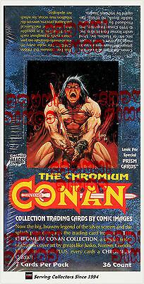 1993 Comic Images Conan Series 1 Chromium Trading Card Factory Box (36 pks)-Rare