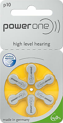 Varta Hörgeräte-batterien (60 x Varta Power One Hörgerätebatterien P10 PowerOne PR70 10 Blister)