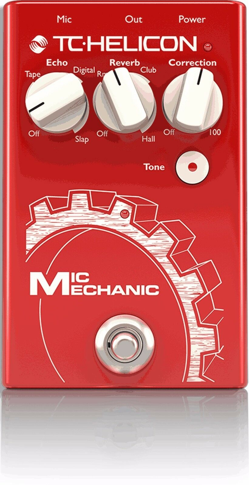 New TC-Helicon VoiceTone Mic Mechanic 2 Vocal Reverb/Delay/Pitch Correction