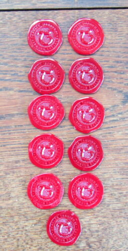 Tanqueray gin bottle seal chips / seals (qty 15)