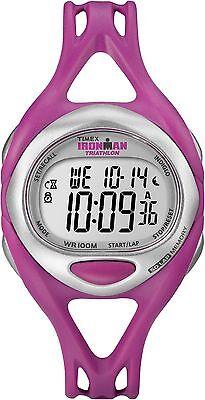 Timex Women's T5K759 Ironman Fuchsia Sleek 50 Lap Chronograph Sport Watch