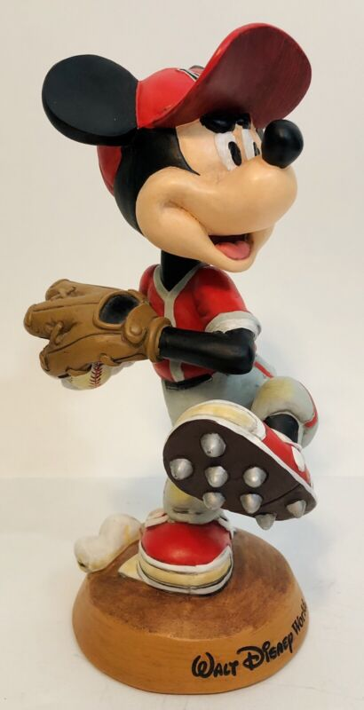Walt Disney World Mickey Mouse Nodder Bobblehead Bobble Head Baseball Figure