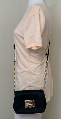 Michael Kors Tina Black Saffiano Leather XSmall Clutch Crossbody Bag