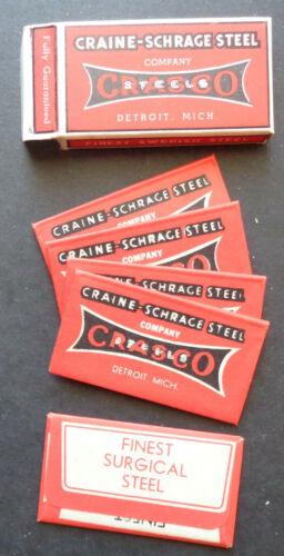 Vintage USA Razor Blades CRASCO Company Version Pack of 5 Seldom Offered