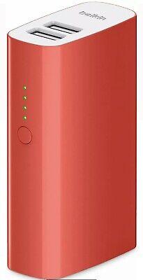 Belkin MIXIT 2 x USB Portable Charging Power Pack 4000mAh Phones Tablets...