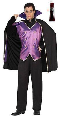 ostüm Gr.M/L 50/52 5-teilig mit Blut Vampir Herrscher Horror (Graf Dracula Kostüm)