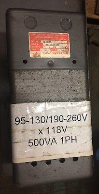 500 Va Sola Constant Voltage Transformer