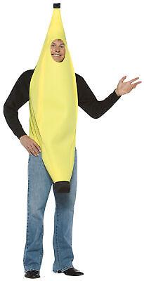 Banana Adult/Teen Food Costume Fruit Tunic Face Hole Funny Attire Halloween