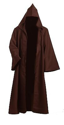 Jedi Halloween Costume For Adults (Star Wars Adult Hooded Jedi Brown Robe Costume Cosplay Clothing for)