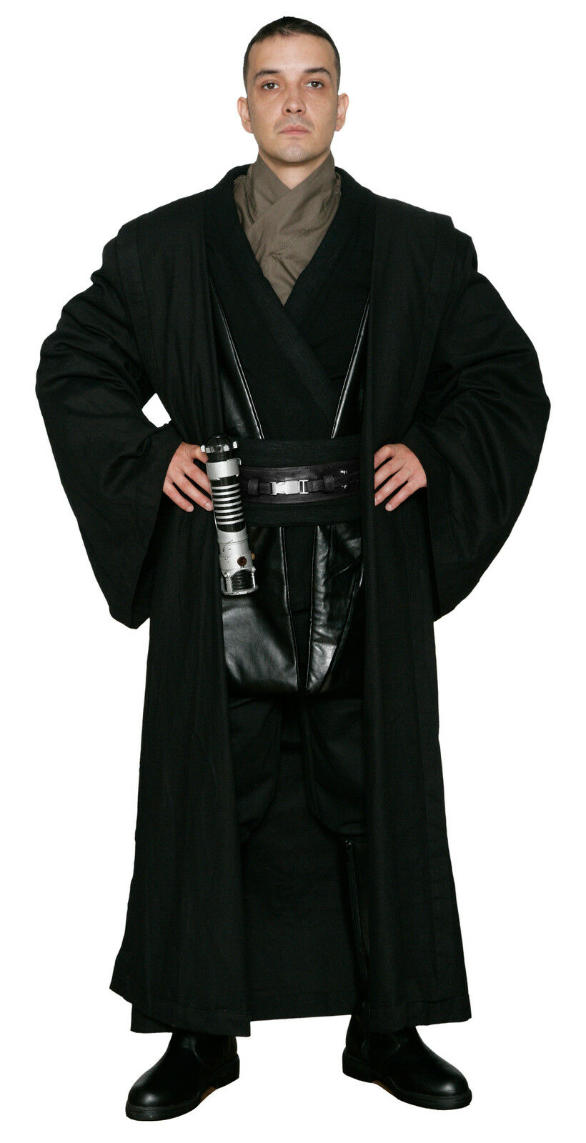 Star Wars Anakin Skywalker Costume and Robe in Black Film Set Quality from USA